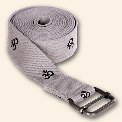 yogibelt Yoga-Strap OM, Gray, 300 x 4 cm