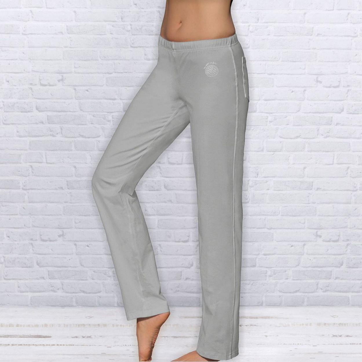 Wellness Yoga pants unisex, Silver Grey