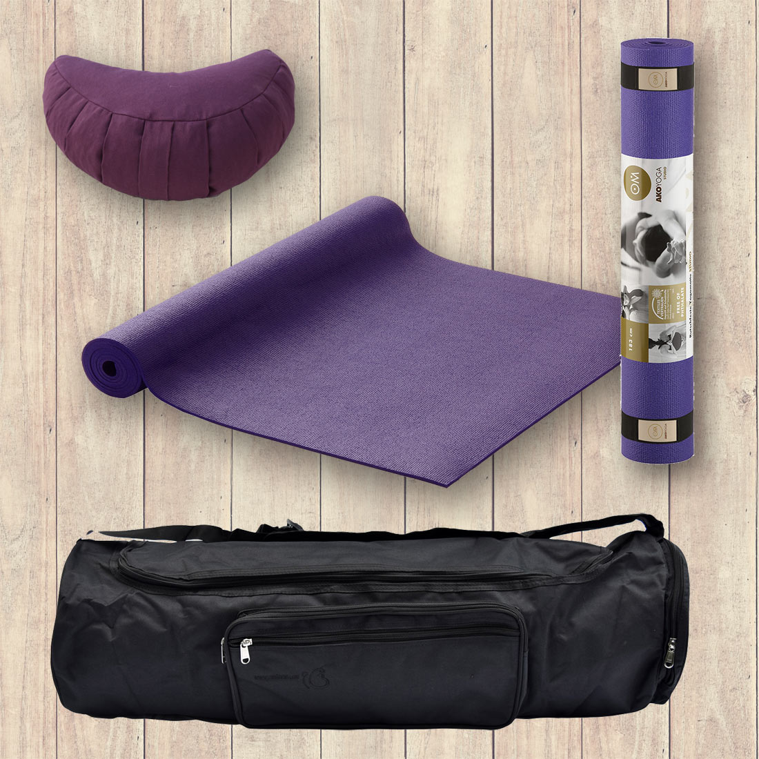 Yoga Set for Beginners, Purple, 3 Yoga items