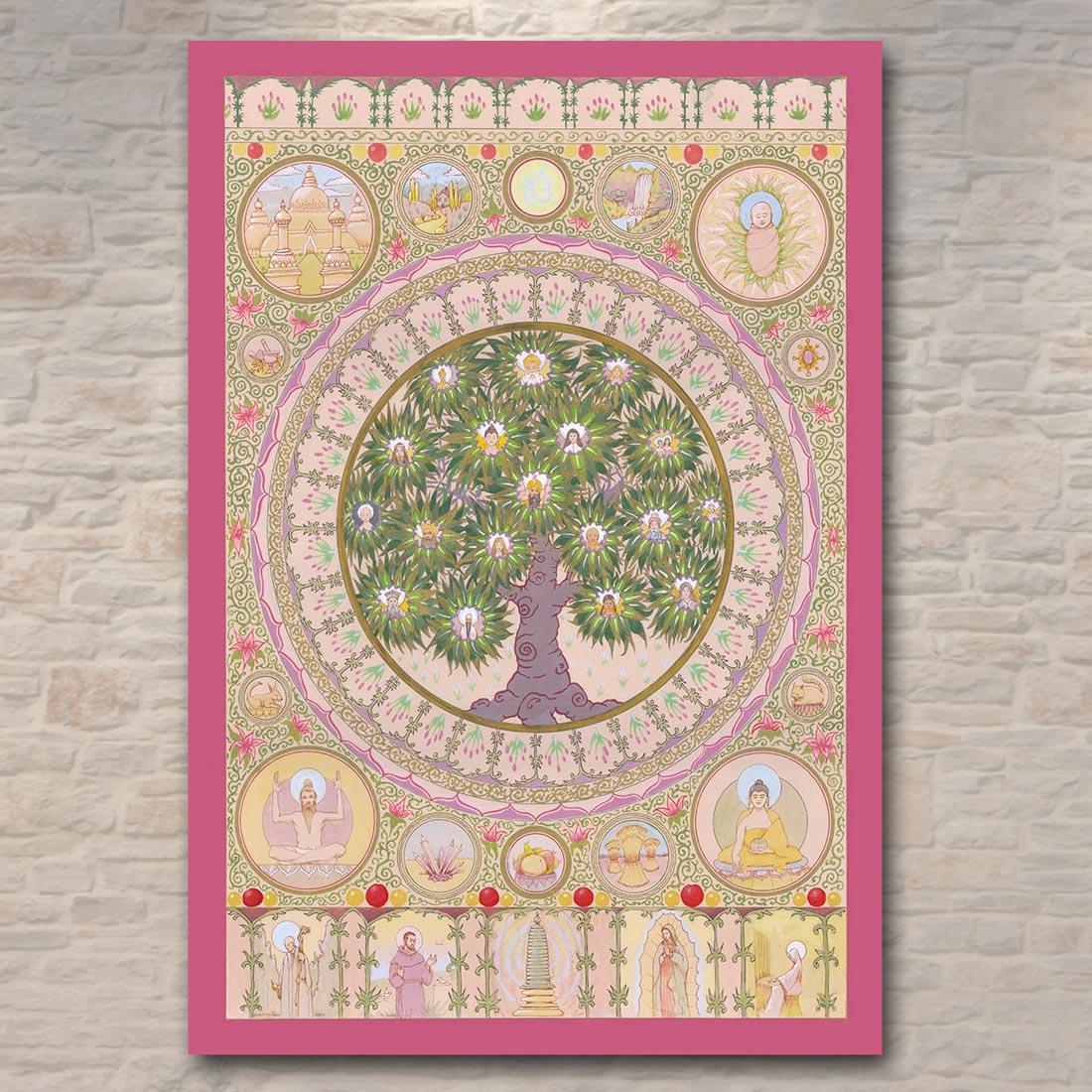 Prosperity Mandala Poster, aprox. 32 x 47 cm