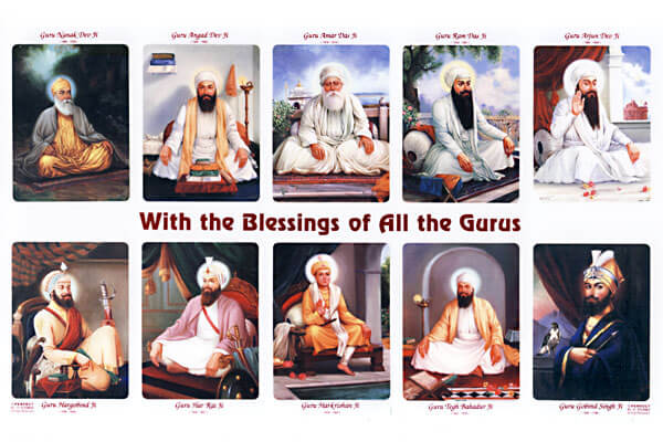Ten Gurus - With Blessings..., A4