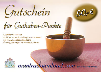 Mantra Download Gutschein 50 EUR