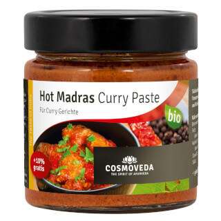 Hot Madras Pâté de Curry Bio, 175 g