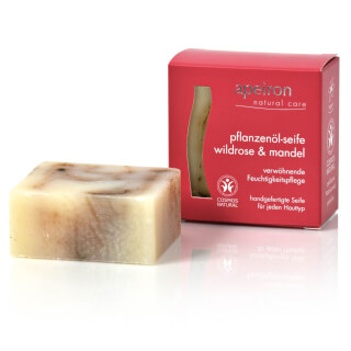 Wild Rose & Almond Natural Herbal Oil Soap Auromére, 100 g