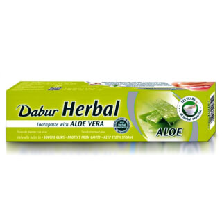Dabur Herbal Aloe Toothpaste, 100 ml (130 g)