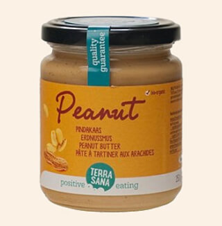 Peanut butter smooth, organic, 250 g
