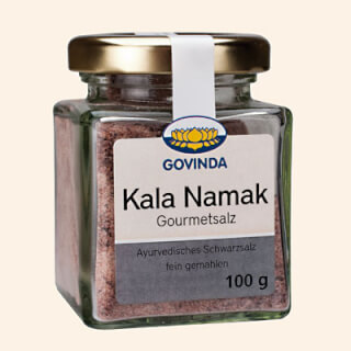 Ayurvedic Black Salt Kala Namak, glass, 100 g