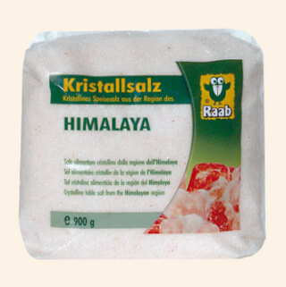Crystalline salt ground, in a bag, 900 g