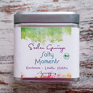 "Salty Moments ""Cardamom-Lime-Matcha"" organic, 150 g Tinbox"