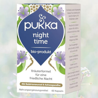 Night Time Bio, Pukka, organic, 60 capsules