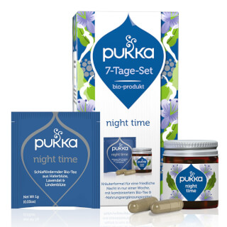 Kit 7 Jours Night Time Pukka