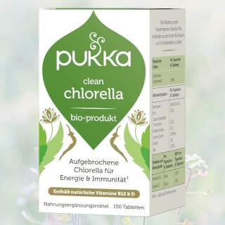 Clean Chlorella organic, Pukka, 150 tablets