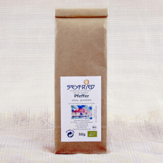 Pepper white, ground, organic, 50 g