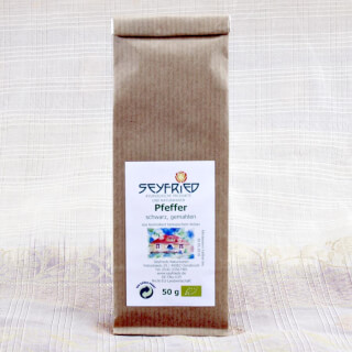 Pepper black, ground, organic, 50 g