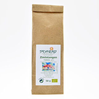 Cinnamon sticks (Cassia) whole, organic