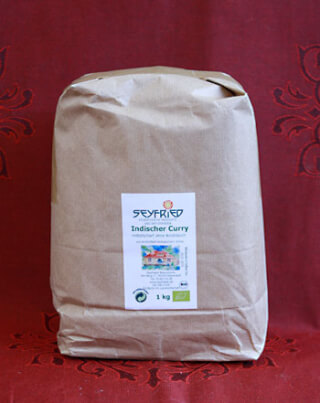 Curry powder ground, organic, 1 kg large pack