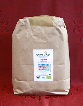 Ginger ground, organic, 1 kg large pack