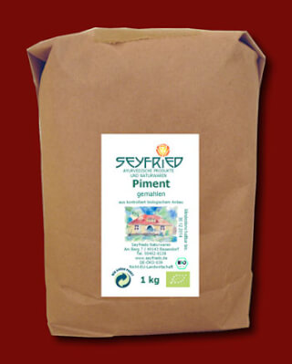 Pimento powder  ground, organic, 1 kg large pack