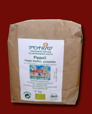 Pippali long pepper, ground, organic, 1 kg large pack