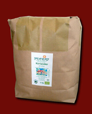 Coriander powder ground, organic, 1 kg large pack