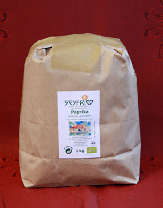 Paprika powder, gourmet-sweet, organic, 1 Kg large pack