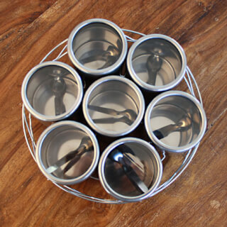Masala Galery for spices and chutneys, stainless steel