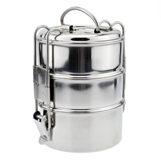 "Tiffin-Box ""Bombay Tiffin"" 3 niveles, acero inoxidable"