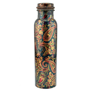 "Kupferflasche ""Flower Design"", ca. 900 ml"