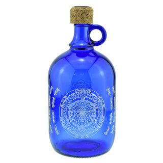Devi Water Bottle cobalt blue, Sri Yantra