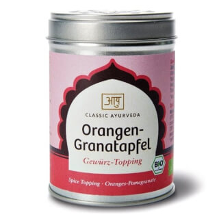 Orange-Granatapfel Topping Bio, 70 g