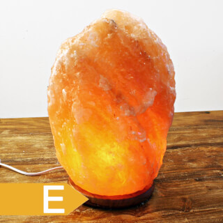 Salt crystal lamp, wooden base, Maxi, approx. 22 kg