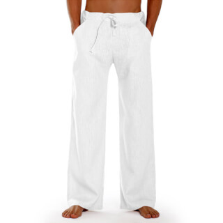 essential pantalon en lin de schazad blanc. Black Bedroom Furniture Sets. Home Design Ideas