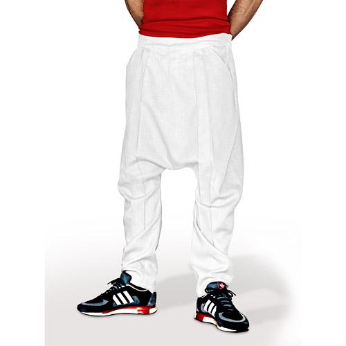 50fae66b342795 Harem Comfort - Linen Trousers Schazad, white (white / S)