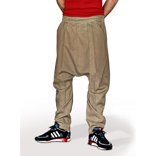 8385d66b313501 Harem Comfort - Linen Trousers Schazad, olive