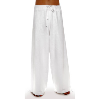 Deluxe – Linen Trousers Schazad, white
