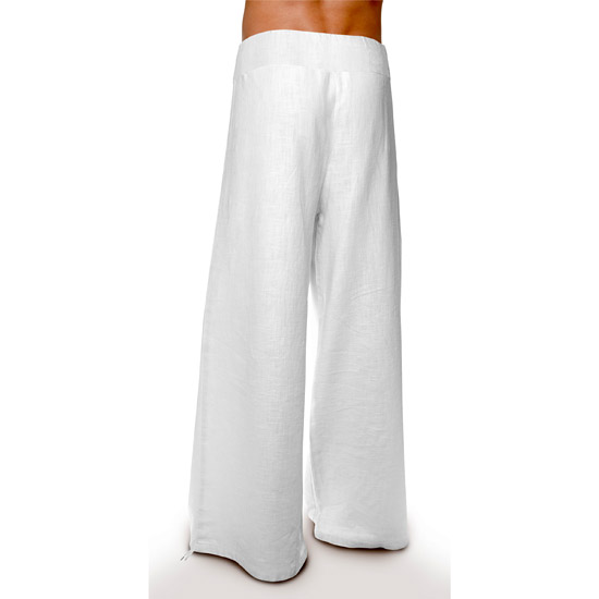 6fd2f16252c2ee Deluxe – Linen Trousers Schazad, white