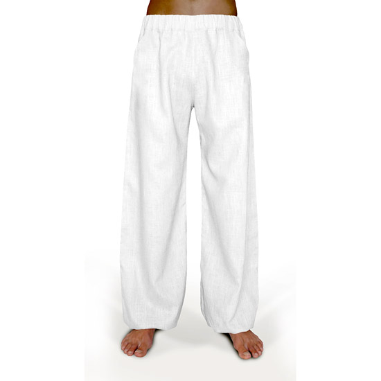 Delight - Linen Trousers Schazad, white