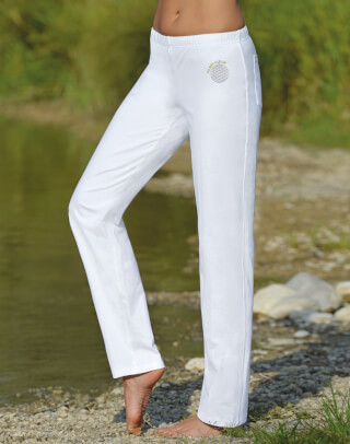 Wellness Yoga trousers unisex, white