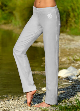 Wellness Yoga pants unisex, Silver Grey