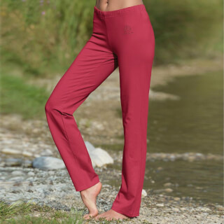 Wellness Yoga trousers unisex, rose-red