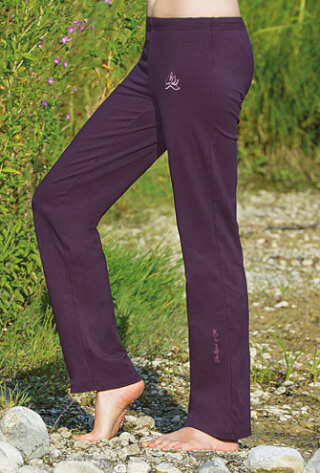 Wellness Yoga pants unisex, aubergine