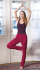 Yoga Pants long, with skirt-waistband, roseate
