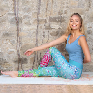 Yoga Legging Spirit of OM, Carribean Blue