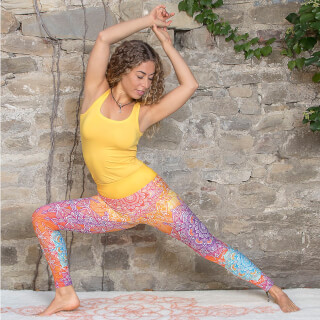 Yoga Legging Spirit of OM, Rainbow