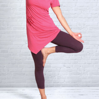 Yoga Leggings 7/8-length, Aubergine