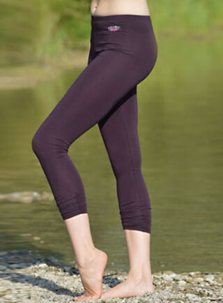 Yoga Leggings 7/8-Länge, Aubergine
