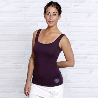 Yoga Top Bamboo, Aubergine