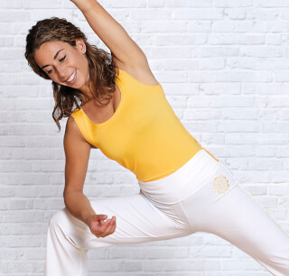 Yoga Top Bamboo, sun-yellow