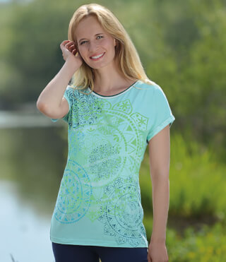 Yoga-Shirt Mandala Dream ¼-Arm, Mint