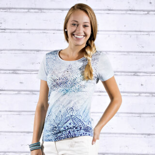 "T-Shirt Ladies ""Waterlily"", blue"